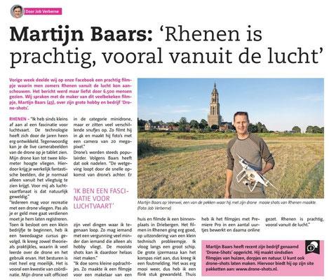 Artikel uit de Rijnpost en Rhenens Betuwse Courant van 28 juni 2017