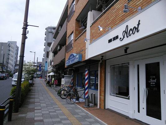 中央線の線路が見えます。日野駅からは徒歩3分です。