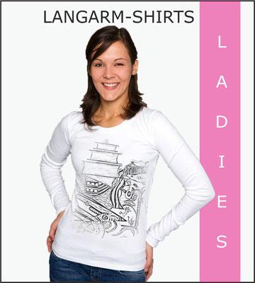 Damen Langarmshirts