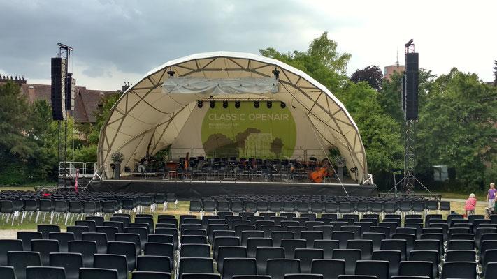 Open Air Bühne, Orchesterkonzert, Bühne mieten, Konzertmuschel,