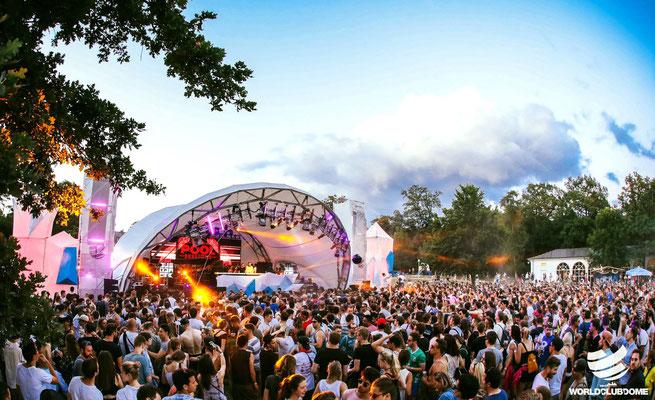 Open Air Bühne, Veranstaltungstechnik,World Club Dome, Bühne mieten,