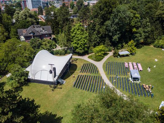 Luftaufnahme, Open Air Bühne, Classic Openair, Winterthur, Bühne mieten