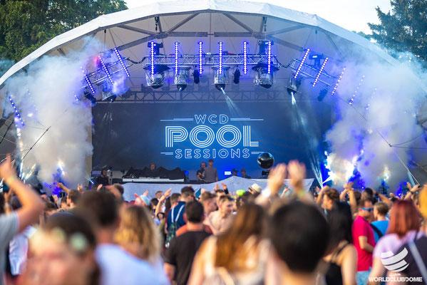 Pool Session WCD, Open Air Bühne, Veranstaltungstechnik, Bühne mieten