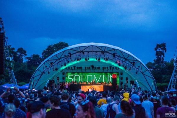 Solomon, Bühne, World Club Dome, Open Air Bühne mieten, Veranstaltungstechnik