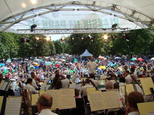 Orchester Open Air, Open Air Bühne, Klassik im Park Braunschweig, Konzertmuschel