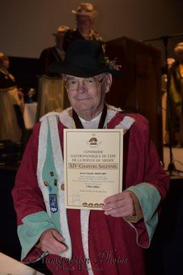 Jean-Claude Bernard - Ordre des Vignerons d'Orléans Cléry