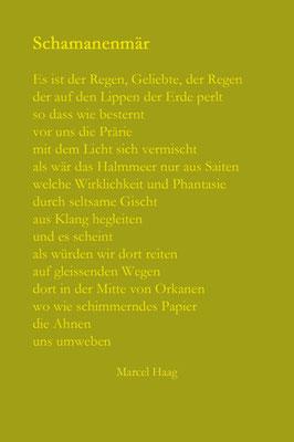 Deutsche Poesie - Schamanenmär - Marcel Haag
