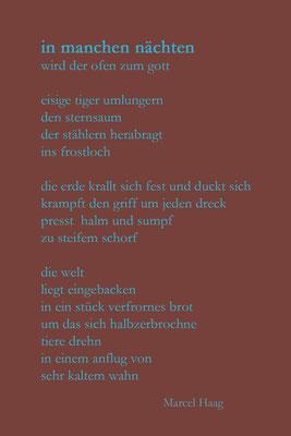 Deutsche Poesie - in manchen nächten - Marcel Haag