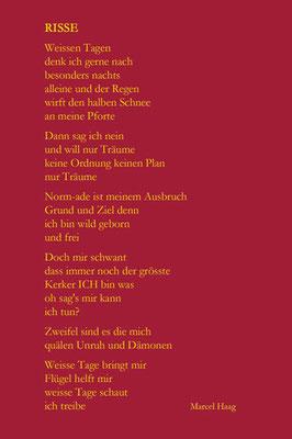 Deutsche Poesie - Risse - Marcel Haag