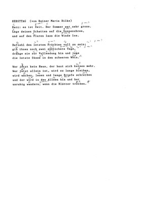 Erinnerung an Marie A. 2 Bertolt Brecht/ by Marcel Haag - Lyrics and Chords