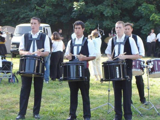 Bagad Pagan - Concours 5ème catégorie - Carhaix - 2005 - Répétition
