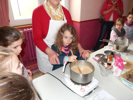Atelier cuisine : flan aux algues...