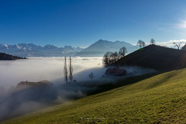 Über dem Nebel mit Vesuv und Niesen  -L45-