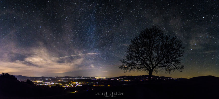 Nachtpanorama Richtung Bern