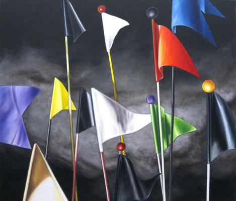 der Sturm, 190x220cm, Öl auf Leinwand, 2012