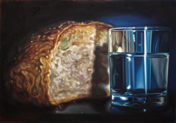 Wasser und Brot, 122x172 cm, Öl auf Leinwand, 2020