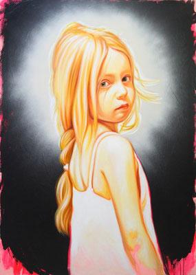 goldenes Kind, 140x100cm, Öl auf Leinwand, 2016