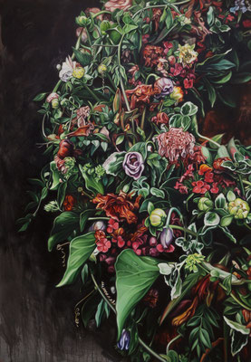 in memoriam, 230x160 cm, Öl auf Leinwand, 2020