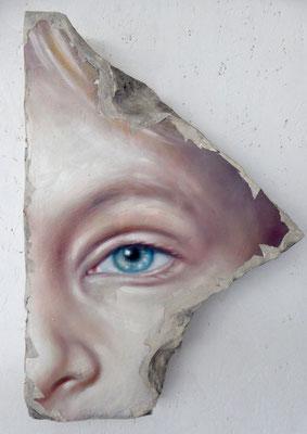 Fragment, 50x35x5cm, Öl/Acryl auf Gips, 2016