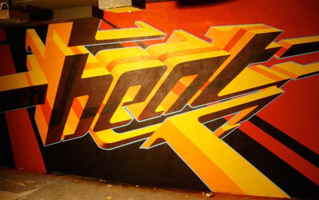 Wandgestaltung im Klub Zürich, Spraydose auf Wand