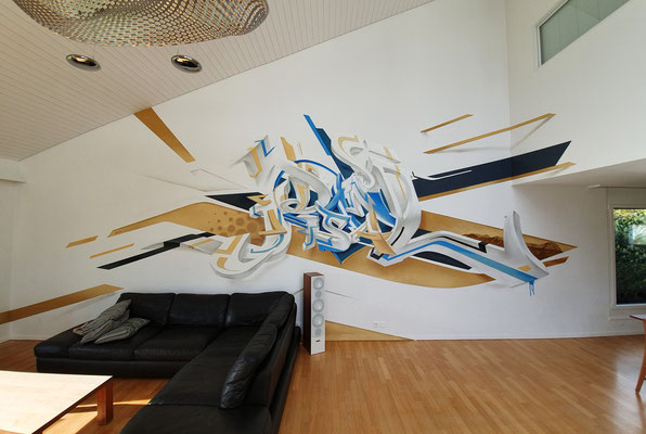 Letter Constructions for a privat Client in the living room