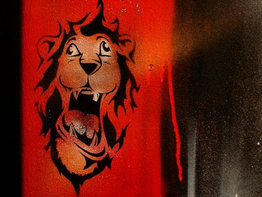 Schablonen Spray für CD Cover von Skafari