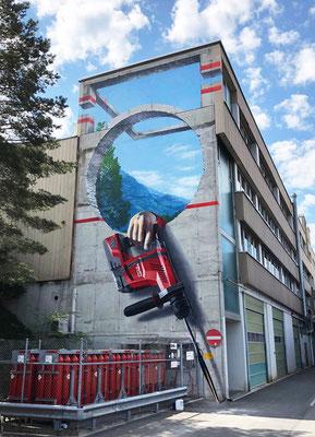 3D Anamorphic Mural for Hilti Art Foundation. 7.5 m x 15.0 m, 2021