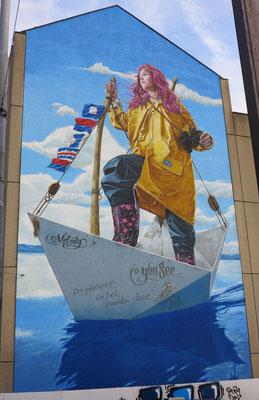 """Mural """"Melody"""", Zurich 2017. 24 m x 12 m."""