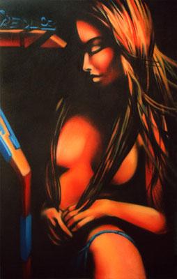 Bild zu verkaufen. Spraydose auf Leinwand, 210 cm x 130 cm