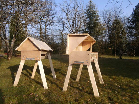 Les ruches horizontales (TBH) jumelles de Christophe et Karine ( Bretagne)