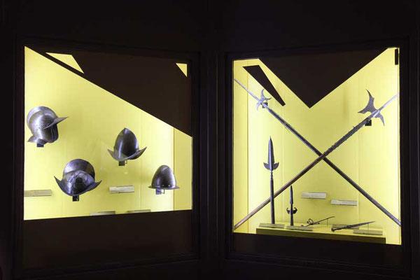 vitrines avec découpes de masquage
