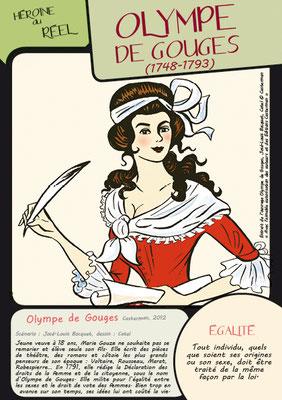 """Quelques cartes du jeu """"Portraits au féminin"""", conçu par le service médiation"""