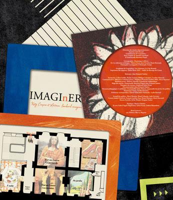 """Visuel avec ours et plan de l'exposition """"Imagi(n)er"""""""