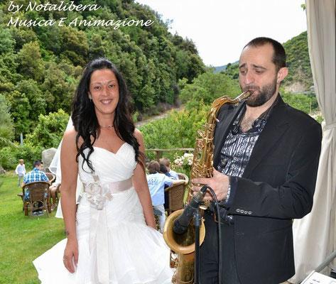 www.anywaymusica.it,matrimonio musica  provincia Imperia,Savona,Genova foto sposa sax