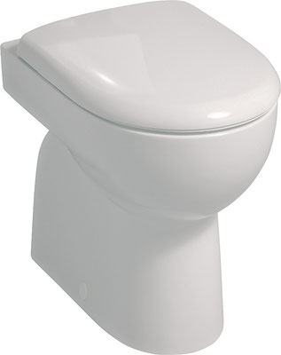 Stand-WC, Abgang innen