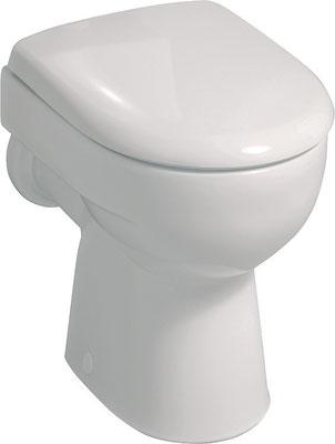Stand-WC, Abgang waagrecht