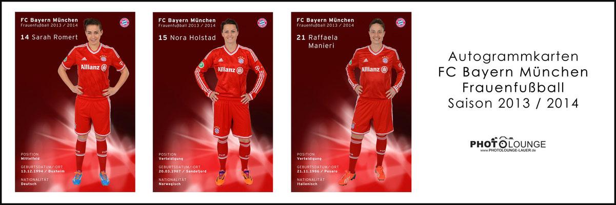 BUSINESS / © Fotograf Karsten Lauer / www.photolounge-lauer.de / Autogrammkarten für den FC Bayern München Frauenfußball