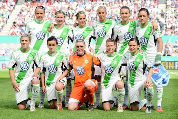 DFB Pokal Finale der Frauen 2013; VfL Wolfsburg , © Karsten Lauer