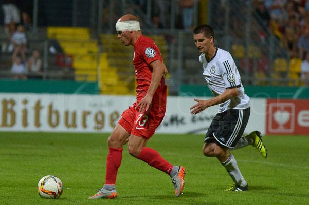 SV Elversberg - FC Augsburg 1:3 n.V. / DFB-Pokal / © Fotograf: Karsten Lauer