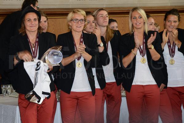 Empfang der Europameisterinnen in Frankfurt, © Karsten Lauer