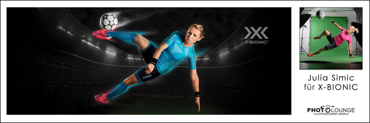 BUSINESS / © Fotograf Karsten Lauer / www.photolounge-lauer.de / Fußballspielerin Julia Simic für X-Bionic