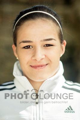 Lena Lotzen beim Algarve Cup 2013; © Photolounge-Lauer
