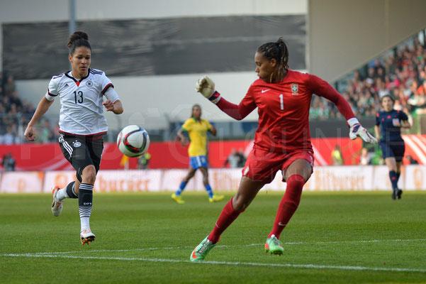Celia Sasic - Deutschland vs Brasilien 4:0 - Fotograf Karsten Lauer / www.photolounge-lauer.de
