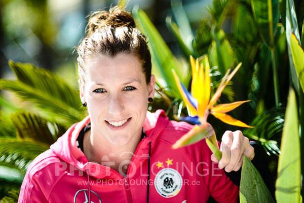 Verena Faißt beim Algarve Cup 2013; © Photolounge-Lauer
