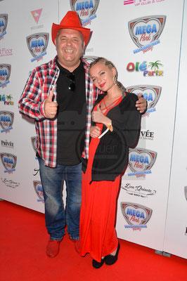 Markus Becker mit Tochter Lilly beim Megapark Opening 2018. Foto: Karsten Lauer