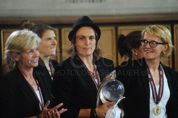 Nadine Angerer, Empfang der Europameisterinnen in Frankfurt, © Karsten Lauer
