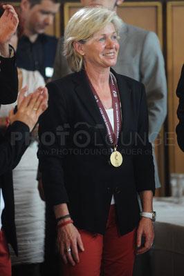Bundestrainerin Silvia Neid, Empfang der Europameisterinnen in Frankfurt, © Karsten Lauer