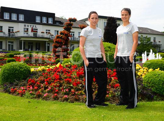 Fotoshooting DFB-Frauen: Nadine Keßler & Dzsenifer Marozsán   © Karsten Lauer
