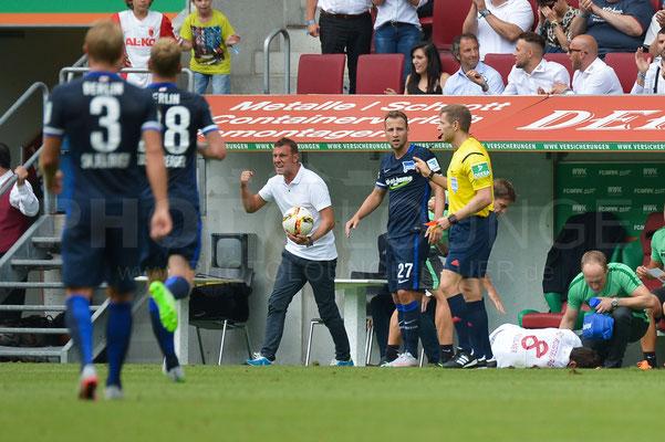 FC Augsburg - Hertha BSC Berlin 0:1 / Fotograf © Karsten Lauer