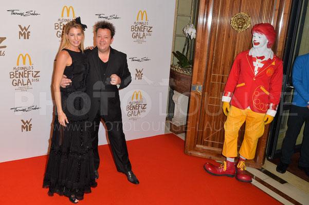 Giulia Siegel und Sebastian Krumbiegel, Mc Donald's Benefiz Gala, 21.10.2016, Fotograf: Karsten Lauer / www.karsten-lauer.de